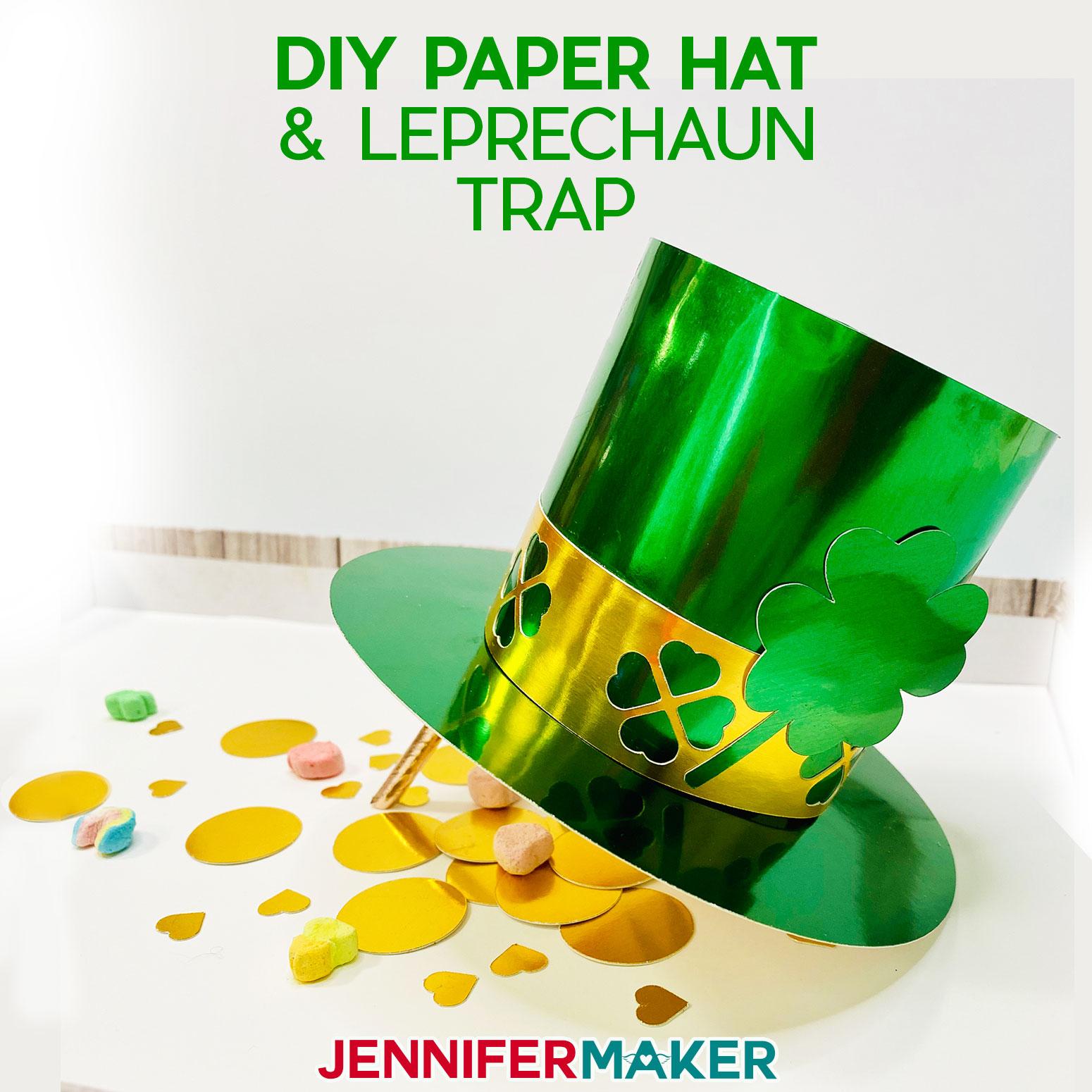 DIY Paper Hat & Leprechaun Hat Tutorial