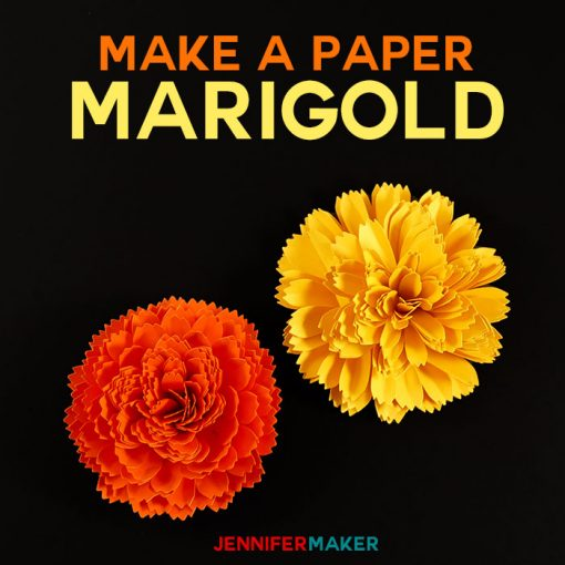 DIY Paper Marigold | Day of the Dead | Dia de los Muertos | Autumn and Fall Flowers | Papercraft Tutorial