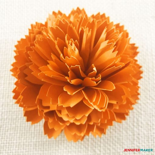 Stunning! Make a DIY Paper Marigold | Day of the Dead | Dia de los Muertos | Autumn and Fall Flowers | Papercraft Tutorial