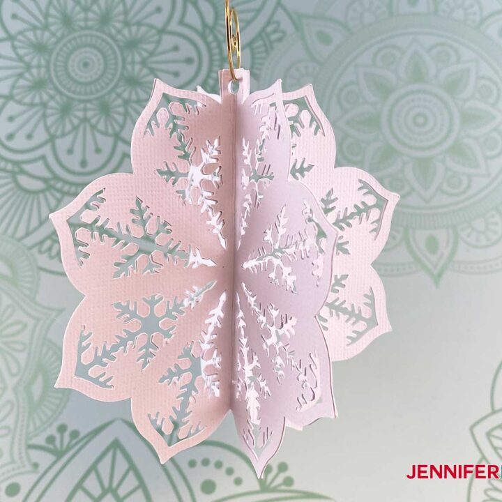 This is what my finished diy paper ornament looks like