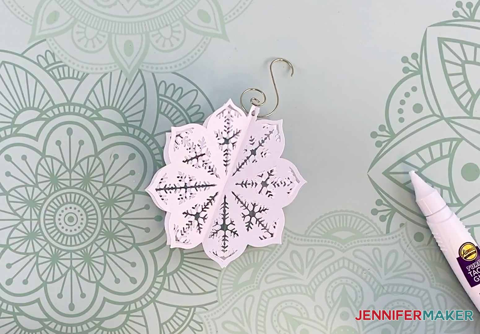 this is my diy paper ornament