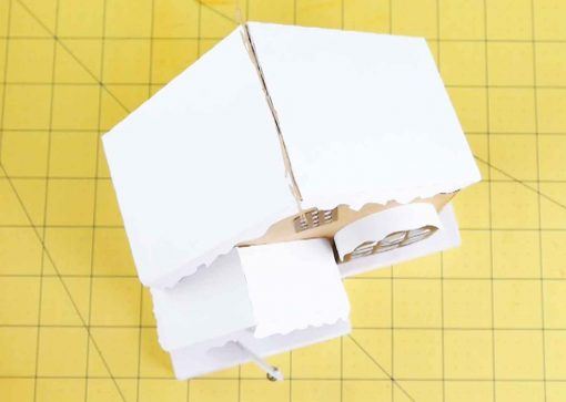 Place the roof on top of your diy paper village house