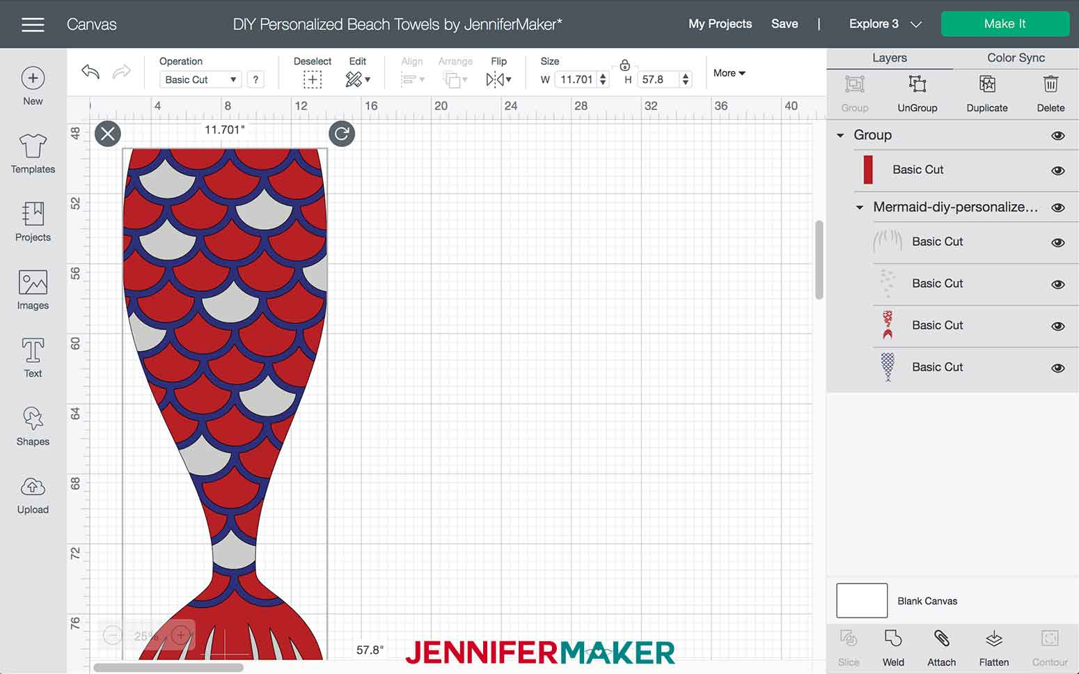 Imported Mermaid DIY Personalized Beach Towels SVG
