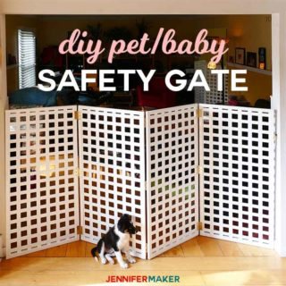 DIY Pet Gate / Baby Gate #safety #pets Extra Tall Extra Wide #diy #babyproofing