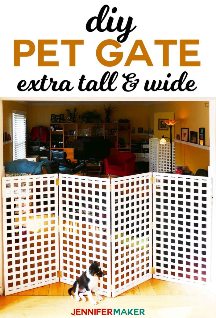 Diy Pet Gate Baby Gate Freestanding Extra Wide Tall