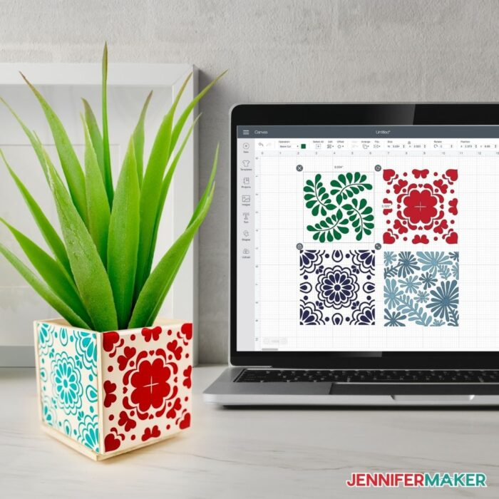 fun and easy plant pot with tiles
