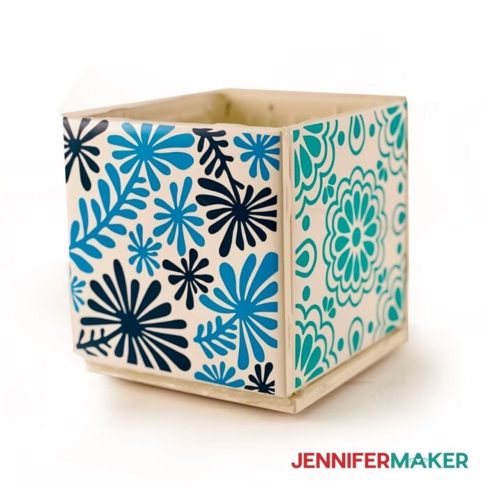 cute and easy plant box with tiles