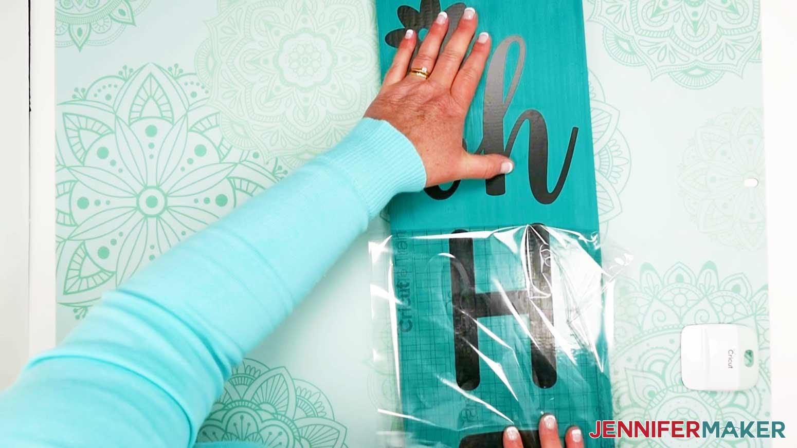 DIY Porch Signs remove transfer tape