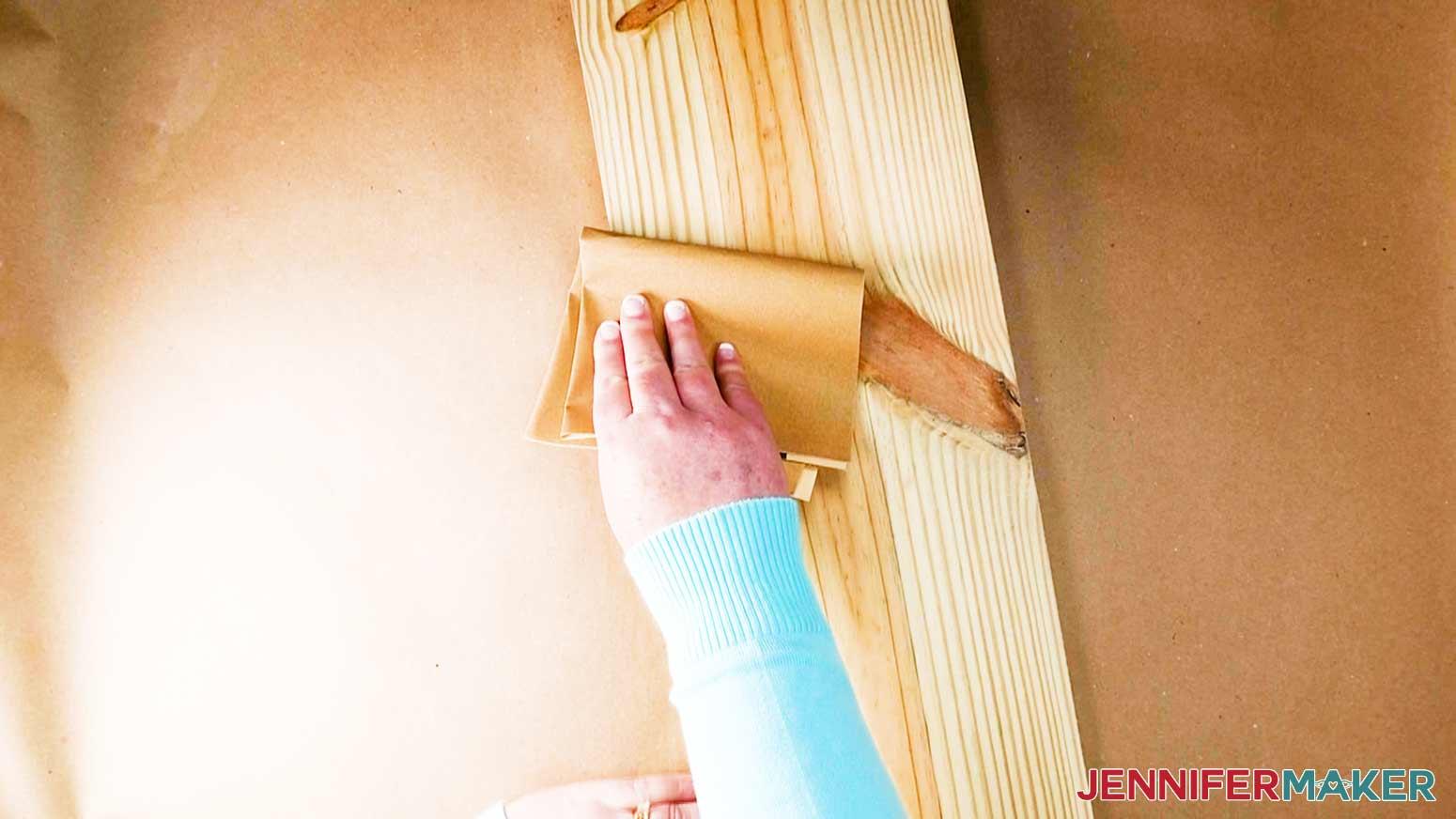 DIY Porch Signs sanding board