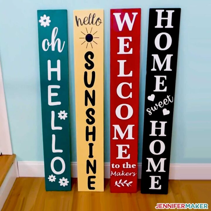 DIY Porch Signs made with the Cricut Maker 3 cutting machine
