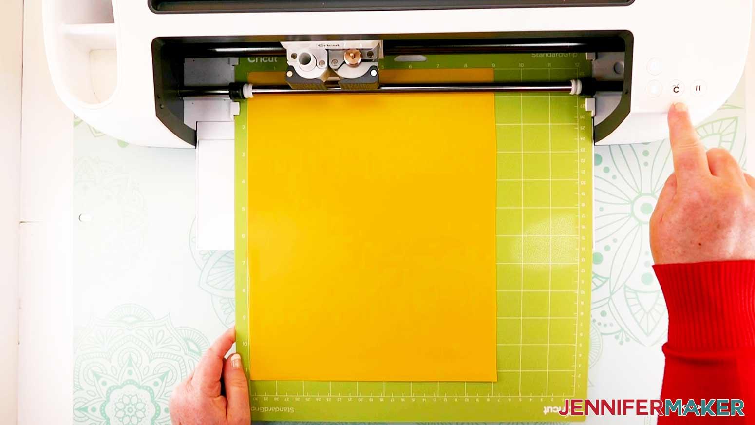 DIY Puzzle Lamp load mat in Cricut