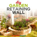 Build a DIY Retaining Wall for a Flowerbed or Garden with this step-by-step tutorial that will save you time, money, and frustration! #gardendesign #diy #homedecor #retainingwall