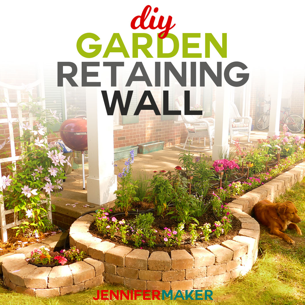 Diy Retaining Wall Construction For A Beautiful Garden Jennifer