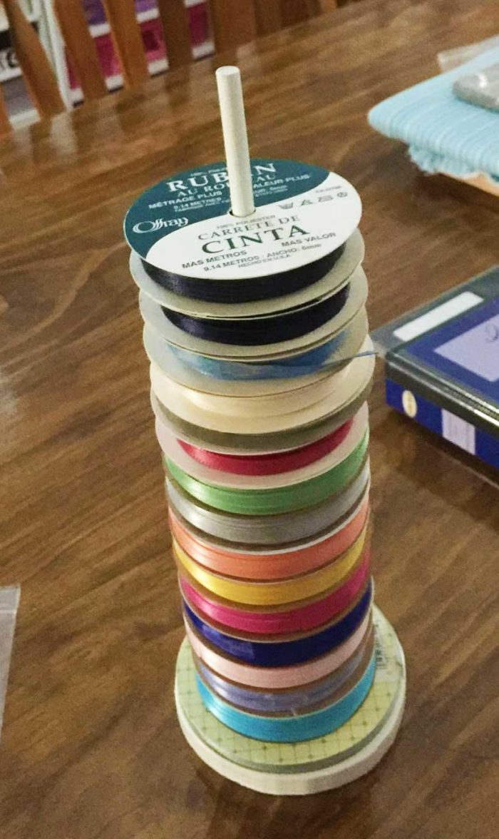DIY Ribbon Storage Dowel makes for great diy ribbon storage organization