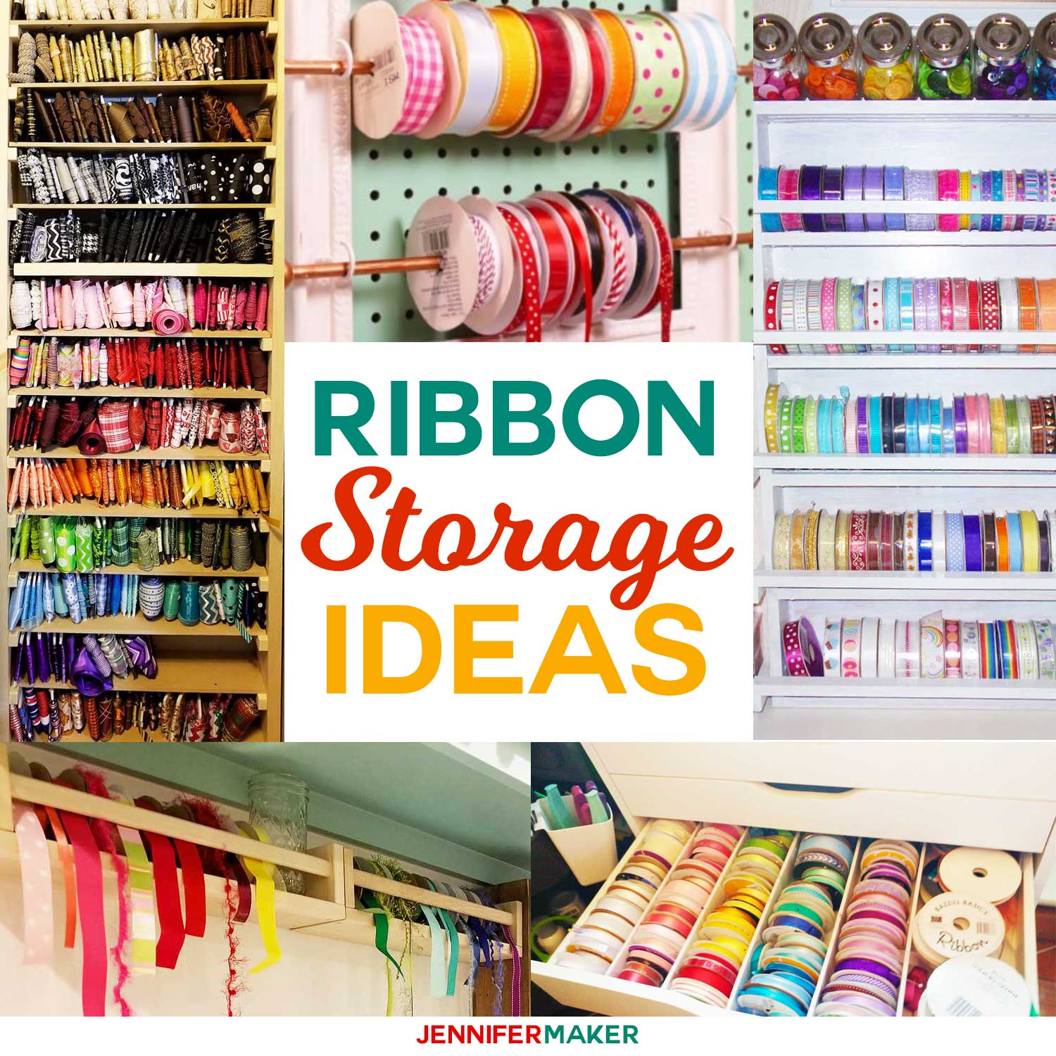 DIY Ribbon Storage Ideas To Keep Your Craft Ribbon Spools Organized And  Accessible #craftroom #