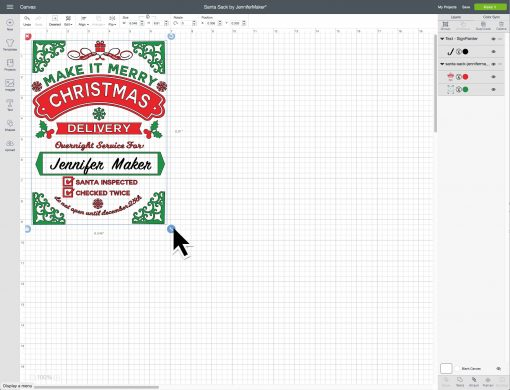 Resize your design in Cricut Design Space