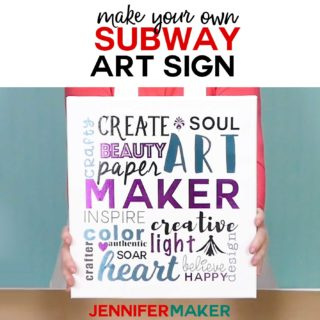 DIY Subway Art Sign - Typography Art Sign Tutorial for Cricut Design Space #sign #cricut #diy #sign