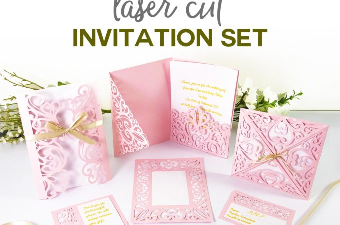 DIY Wedding Invitation Templates - Free and Complete SVG Cut File Set #weddings #cricut #cricutmade #invitations
