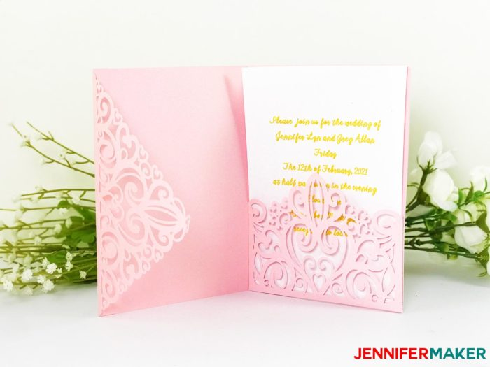 "DIY Wedding Invitation Templates - Free ""Laser Cut"" Set ..."