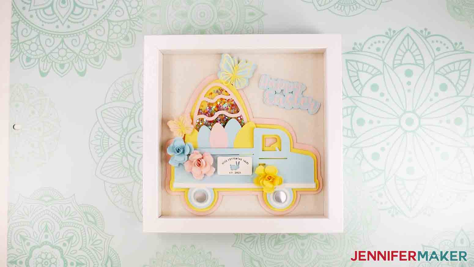 easter truck decor finished truck in shadowbox