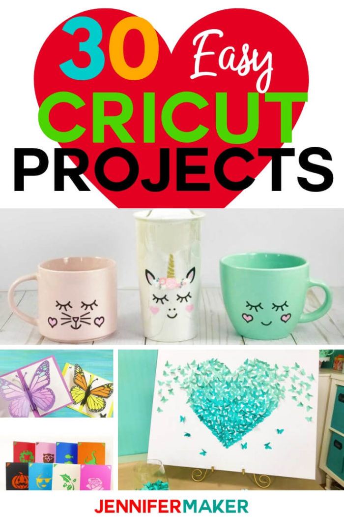 Are you new to Cricut? I have compiled 30 EASY Cricut projects anyone can make! All of my projects are free to download and have step by step tutorials to help you complete the project. #cricut #cricutmade #cricutmaker #cricutexplore #svg #svgfile