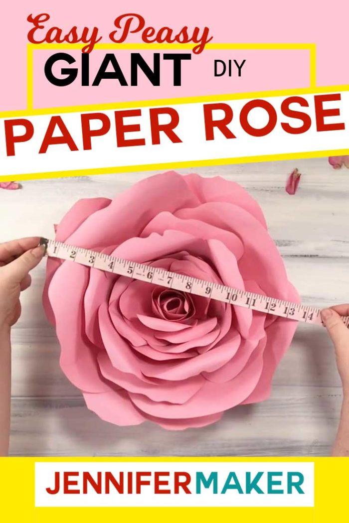 Easy Giant Paper Rose Tutorial