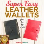 Easy Leather Wallet Pattern and Tutorial - Makes a Great Gift Card Holder! | Cricut Maker SVG Cut File | #leather