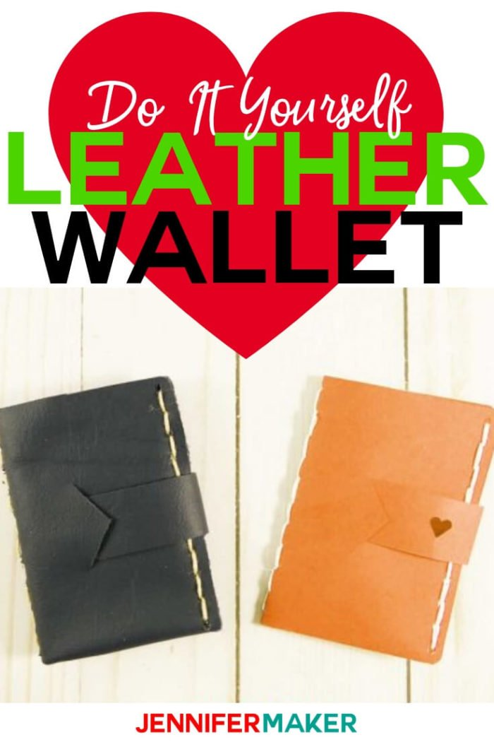 Learn how to make easy leather wallets that make an excellent gift card holders. Of course, you can use the wallet as a regular wallet, or you can make it out of cardstock instead. #cricut #cricutmade #cricutmaker #svg #svgfile