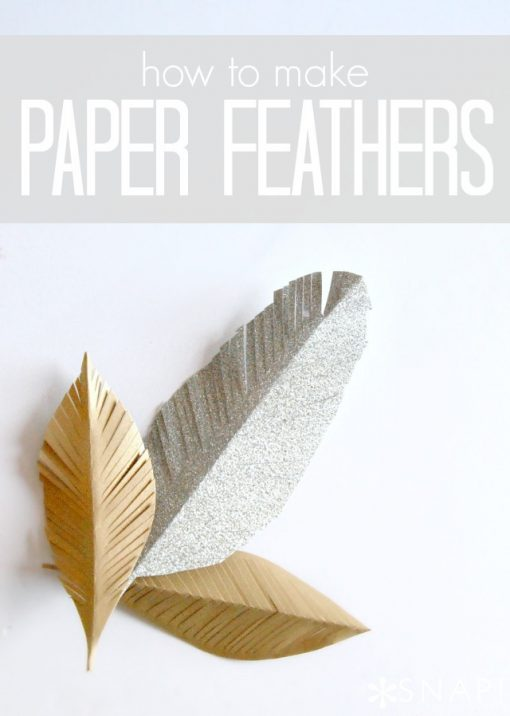 DIY Paper Feathers Tutorial | Easy Paper Craft Ideas and Projects