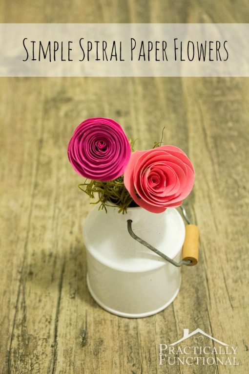 Easy Paper Spiral Flowers | Easy Paper Craft Projects