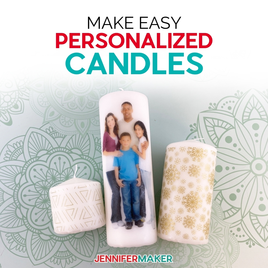 Personalize any candle with a photo of your loved ones