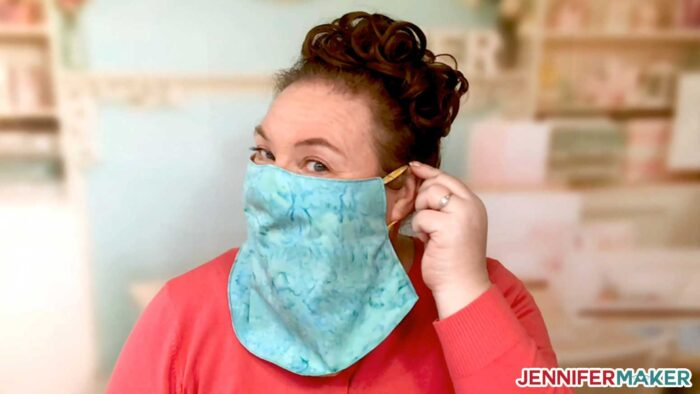 Comfy ear loops on the cool veil face mask