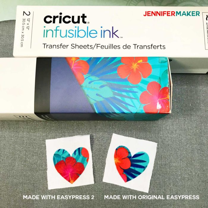 Cricut Infusible Ink transferred with EasyPress 2 and Original EasyPress