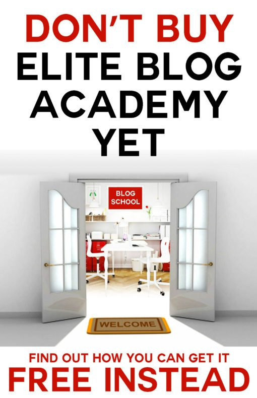 I'm giving a free Elite Blog Academy scholarship away! Click to enter! #blogging