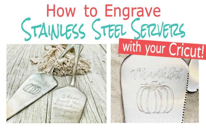 How to Engrave Stainless Steel Servers by Well Craft Studio