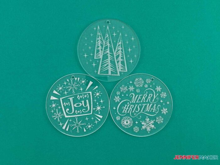 This is what my engraved ornaments look like finished