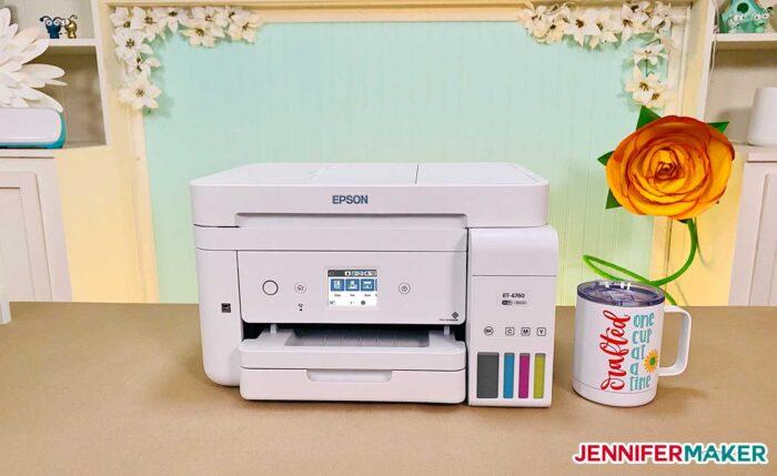 Epson EcoTank 4760 converted into a sublimation printer
