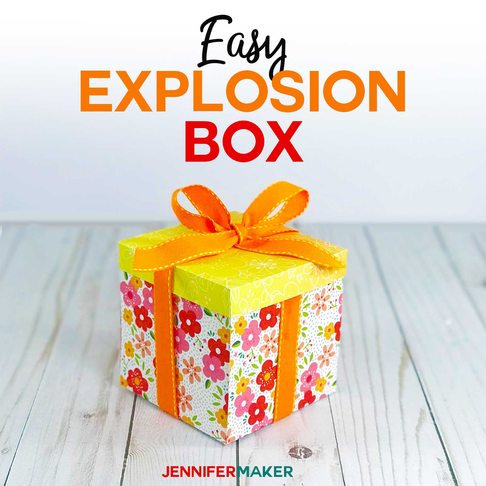 Make an Easy Explosion Box Card with this Tutorial and Free Template and SVG Cut File #papercrafts #cricut #cardmaking #cricutmade