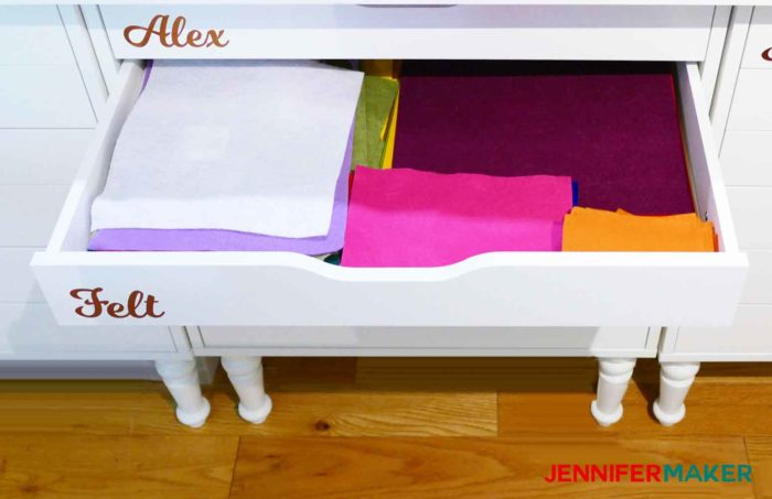 Organize your felt by storing it flat in a drawer