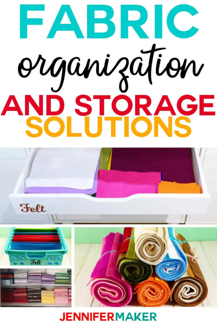 Do you need fabric organization and storage solutions? I will show you how to sort, organize, and store your fabric in your craft room. #diy #tutorial #craftroom