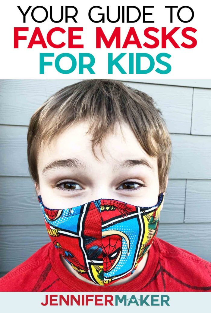 Cricut Face Mask for Children Pattern with Filter Pocket, Adjustable Ties, and Nose Guard - Free Printable Pattern and SVG Cut File for Cricut