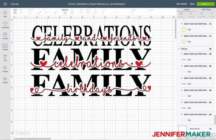 Family celebration sign designs for a family celebration and birthday board