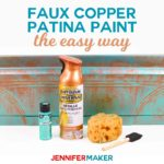 DIY Faux Copper Patina Paint Made the Easy Way #spraypaint #copper #planter #paintingtechnique