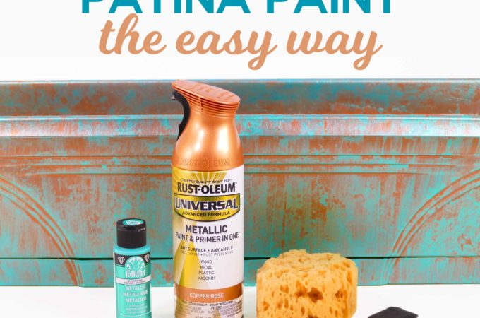 DIY Faux Copper Patina Paint Made the Easy Way #spraypaint #copper #planter #paintingtechnique
