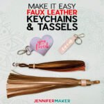 Easy Faux Leather Keychains with Iron-On Vinyl, Cut on a Cricut!