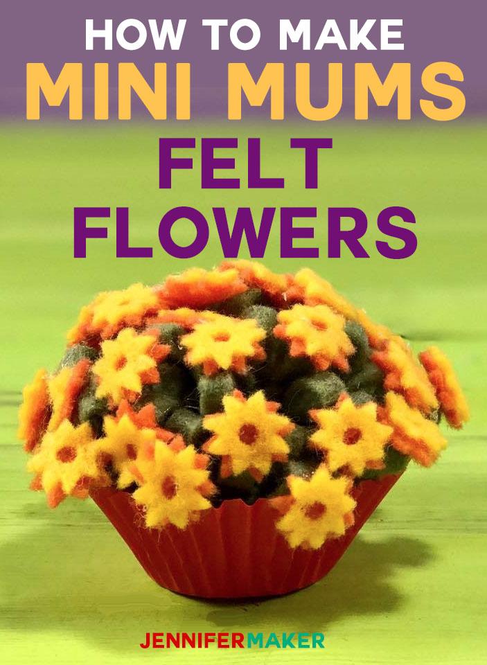 Felt Flowers | Mini Mums | How to Make