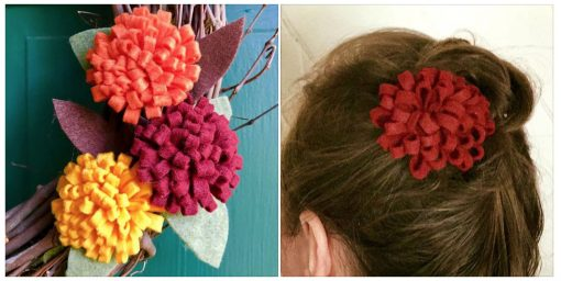 Easy Felt Flowers: Fall Mums