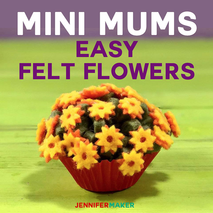 Felt Flowers | Mini Mums | How to Make