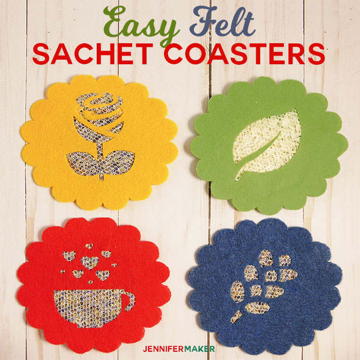 Easy Felt Sachet Coasters