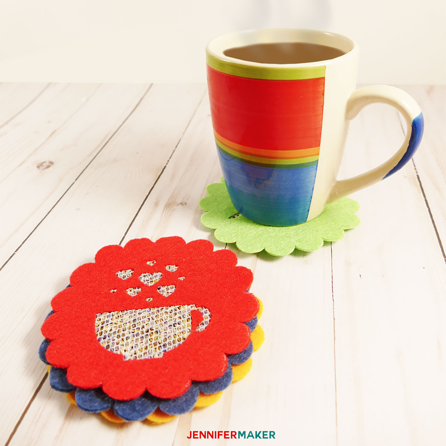DIY Felt Sachet Coasters Smell Great with a Warm Mug! | Floral Sachets | Cricut Maker SVG Cut File Project - Cricut Maker Projects
